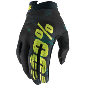 100% iTrack Gloves camo black/green